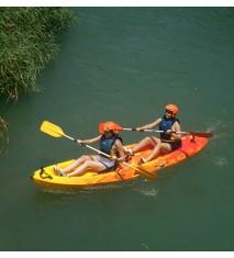 Descenso en canoa por aguas tranquilas   Ruta guiada en quad eléctrico