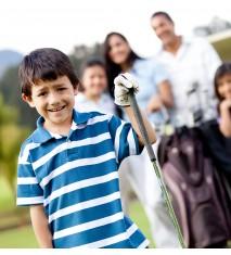 Iniciación al golf en familia
