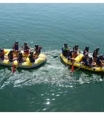 Rafting por la ría de Bilbao + Visita al pesquero Agurtza y taller marinero