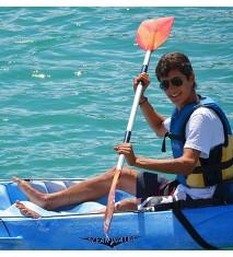 Excursión guiada y sesión de juegos en Open kayak familiar