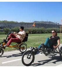 Aventura en trike o bici reclinada en Barcelona