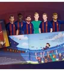 """""""La magia del FC Barcelona"""", el primer libro personalizado del FCBARCELONA  (Burgos)"""